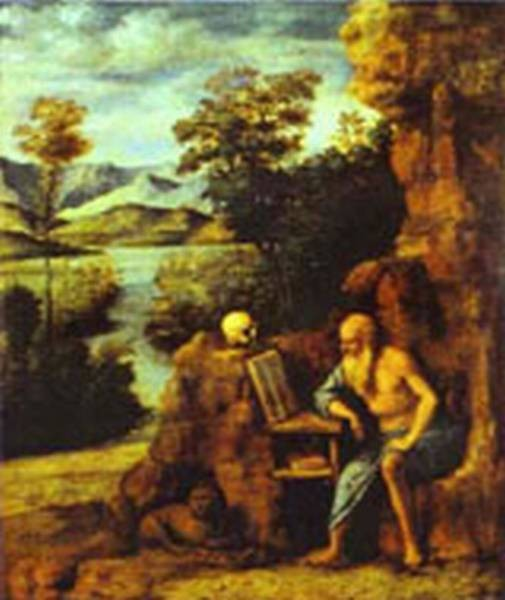 St jerome in the desert xx palazzo pitti galleria palatina f
